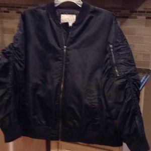 Ladies silk bomber jacket size 2X